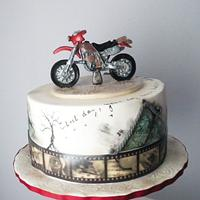 Cross motorbike birthday cake