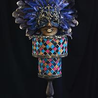 Venetian Carnival Collaboration Cake