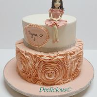 Rose ruffle cake