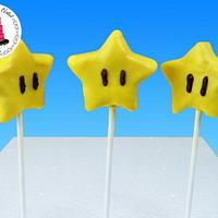Super Mario Star Cake Pops!