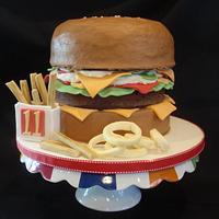 Hamburger, Fries, and Onionrings!