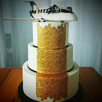 Airplane pilot Wedding cake