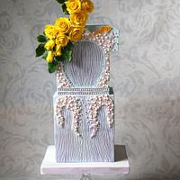 Fashion inspired cake, Givenchy dress 2011, worn by Cate Blanchett