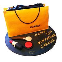Selfridges Shopping Bag and Makeup Cake