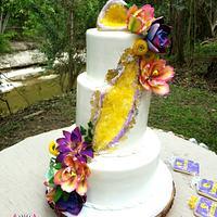 Citrine Geode Wedding Cake