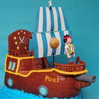 (Jake and the Neverland) Pirate Ship Cake ...