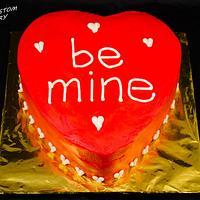Be Mine- Valentine's Day Heart Cake