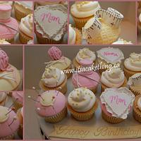 Seamstress Themed Cupcakes