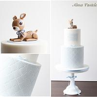 Little fawn christening cake!