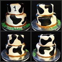 Cow print birthday