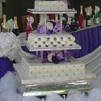 Tufted billow wedding cake