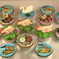 Nature Themed Baby Shower cupcakes