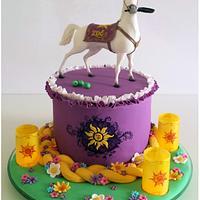 Maximus & Rapunzel cake