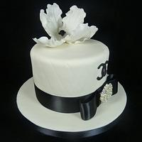 Monochrome Chanel Inspired Cake