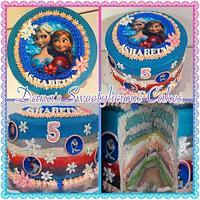 Frozen cake anna and elsa
