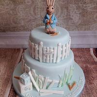Peter rabbit christening cake :)