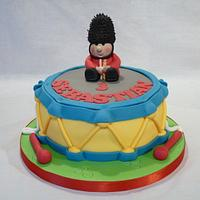 TOY DRUM AND TOY SOLDIER CAKE