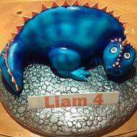 Ferocious Blue Dinosaur!! lol by A House of Cake