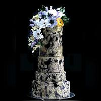 Wedding Cake Lace and Ligh Bouquet