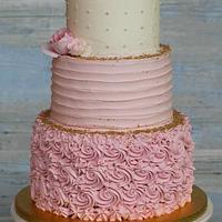romantic wedding cake :