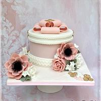 Hatbox Birthday Cake