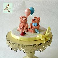 genderreveal cake topper