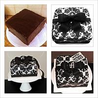 black & white damask gift box by funni
