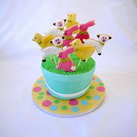Easter Cookie Pop Cake