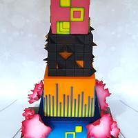 x Summer in the City Wedding Cake x