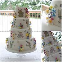 Butterflies & Fairies Wedding Cake by TiersandTiaras