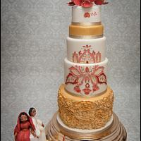 All that glitters Gold and Red by Cakes by Nina Camberley