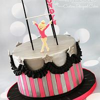 Stupendous Gymnastics Birthday Cake Cake By Alwayswithcake Cakesdecor Personalised Birthday Cards Paralily Jamesorg