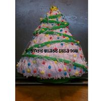 Xmas Tree Cake by BlueFairyConfections