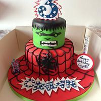 spiderman and hulk theme