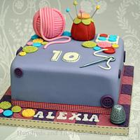 Sewing Inspired cake by Hundreds and Thousands Cupcakes