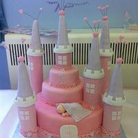 Sleeping Princess Fairy Castle Cake & Cupcakes by LindyLou