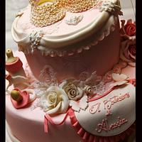 Romantic christening cake for our cousin Alessia