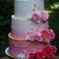 ombre wedding cake :