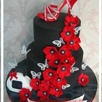 Red Poppy 21st Cake