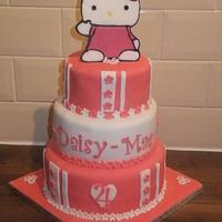 Hello Kitty 3 tier cake