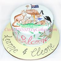 Australian animals theme cake