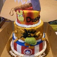 Avengers Themed Birthday Cake
