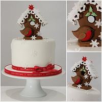 Traditional Christmas Gingerbread Bird House