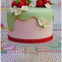 Spring Strawberries cake