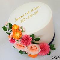 Floral Bridal Shower Cake