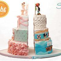 Pirata Vs. Ballerina Split cake