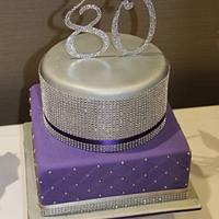 Bling 80th Birthday Cake