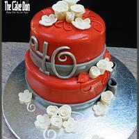 THE 40th WEDDING ANNIVERSARY CAKE