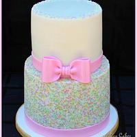 Pastel Sprinkles Cake (and smash cake)