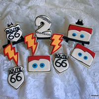 'Cars' birthday cookies